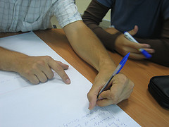 Collaborating hands 247088786_00e2e09237_m